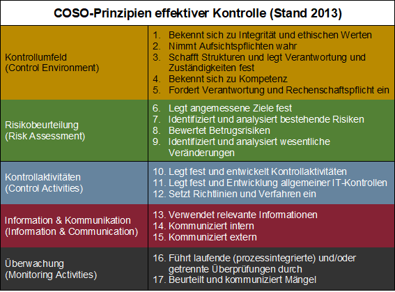 Internes Kontrollsystem Und Coso Lexikon Interne Revision Haub Partner