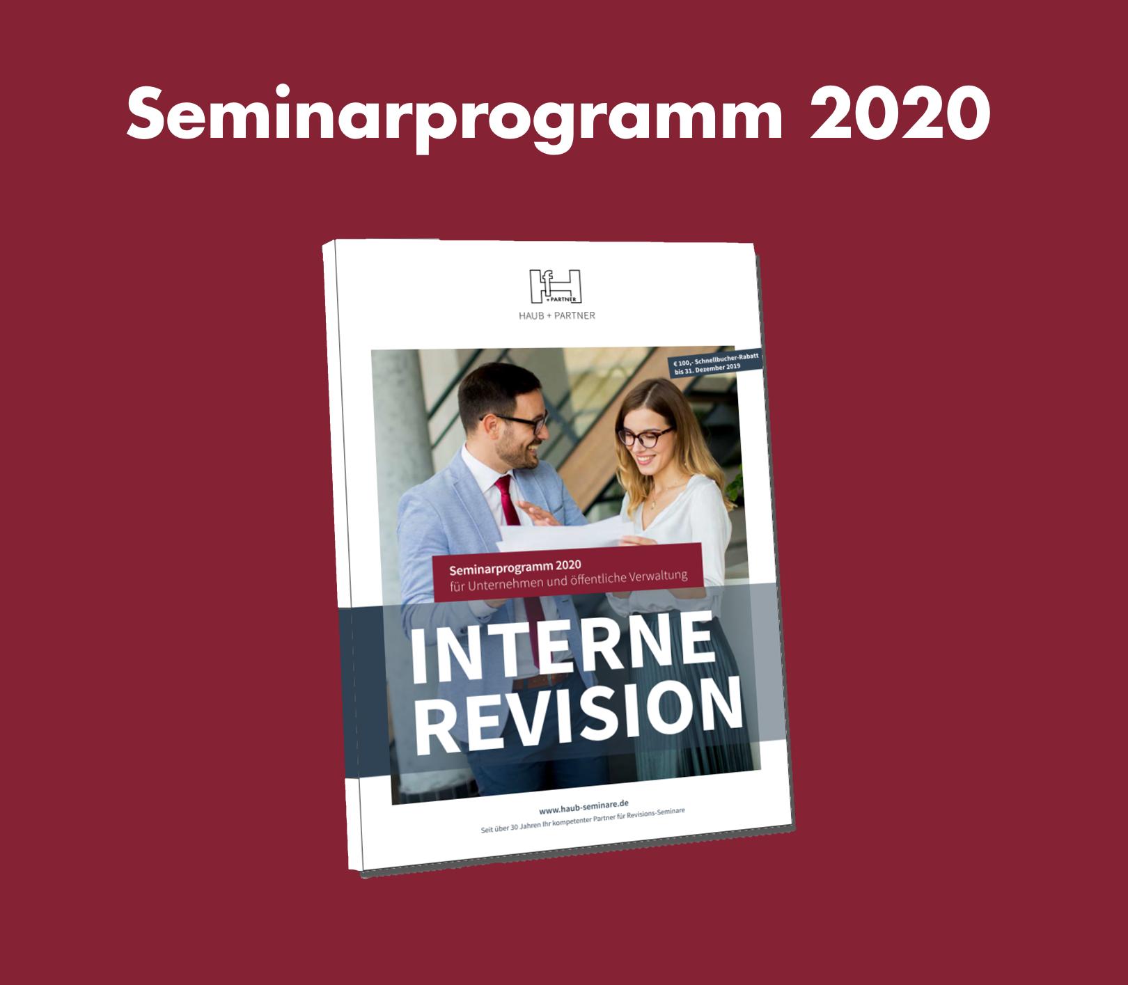 HAUB+PARTNER Seminarprogramm 2020